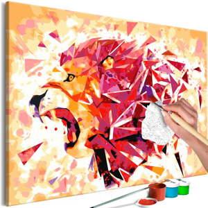DIY set na tvorbu vlastního obrazu na plátně Artgeist Abstract Lion, 60x40 cm