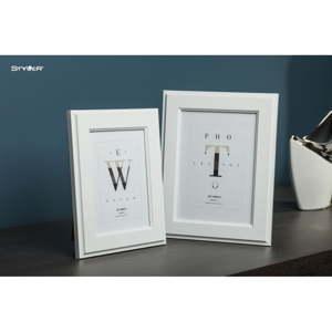 Bílý rámeček na fotografii Styler Malmo, 30x40cm