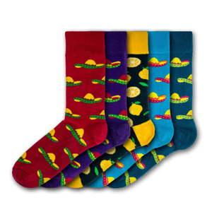 Sada 5 párů pánských ponožek Black&Parker London Sombrero, velikost 41 - 45