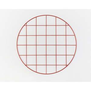 Červená drátěná nástěnka Really Nice Things Circle Rojo, ⌀ 59 cm