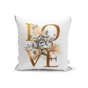 Povlak na polštář Minimalist Cushion Covers Golden Love Sign, 45 x 45 cm