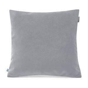 Šedý povlak na polštář se sametovým povrchem Mumla Velvet, 45 x 45 cm
