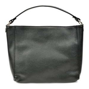 Černá dámská kožená kabelka Anna Luchini Messina