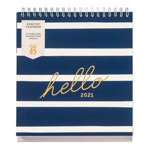 Stolní modrý kalendář Busy B, 13 stran