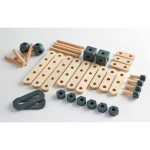 Dětská sada dřevěných součástek Flexa Toys Toolbox