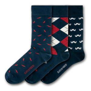 Sada 3 párů unisex ponožek Black&Parker London Lenhydrock, velikost 37 - 43