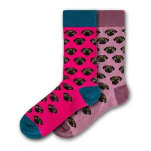 Sada 2 párů dámských ponožek Funky Steps Pug, velikost 35 - 39