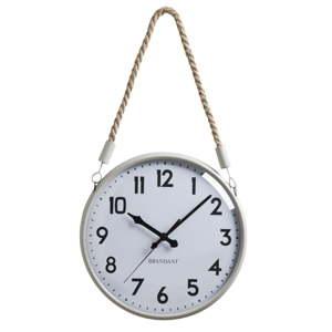 Bílé nástěnné hodiny z kovu Brandani Corda