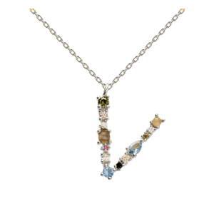 Stříbrný náhrdelník PD PAOLA Monogram V
