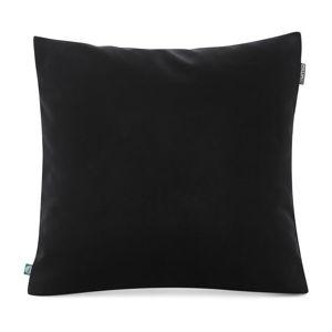 Černý povlak na polštář se sametovým povrchem Mumla Velvet, 45 x 45 cm