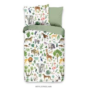 Dětské bavlněné povlečení Good Morning Džungle, 120 x 150 cm