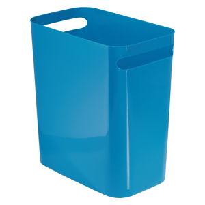 Modrý odpadkový koš iDesign Una, 13,9l