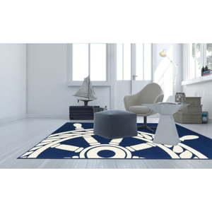 Vysoce odolný koberec vhodný do exteriéru Webtappeti Navy, 160x230cm