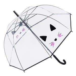 Transparentní holový deštník Birdcage Cute Cat, ⌀85cm