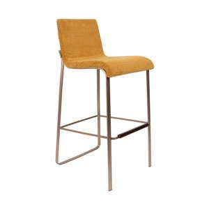 Žlutá barová židle Dutchbone Fiore, výška 100 cm