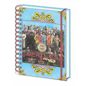 Linkovaný zápisník A5 Pyramid International The Beatles Sgt. Pepper´s, 80 stran