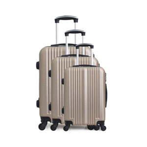 Sada 3 cestovních kufrů na kolečkách Hero San Diego Champagne