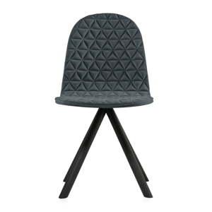 Tmavě šedá židle s černými nohami Iker Mannequin Triangle