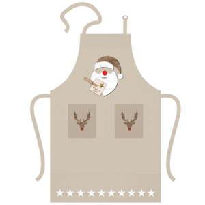 Bavlněná kuchyňská zástěra s vánočním motivem PPD Santa Red Nose