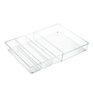 Kuchyňský organizér se 4 přihrádkami iDesign Linus, 30,5x41cm