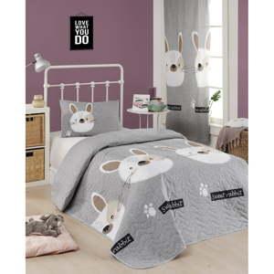 Set přehozu přes postel a povlaku na polštář s příměsí bavlny Eponj Home Tavsancik Light Brown, 160 x 220 cm