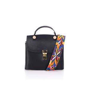 Černá kožená kabelka Giorgio Costa Nicoletta