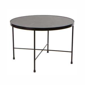 Černý kovový konferenční stolek Nørdifra Marble, ⌀60cm