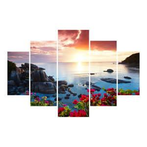 5dílný nástěnný obraz Lake