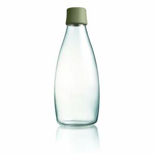 Tmavě zelená skleněná lahev ReTap s doživotní zárukou, 800ml