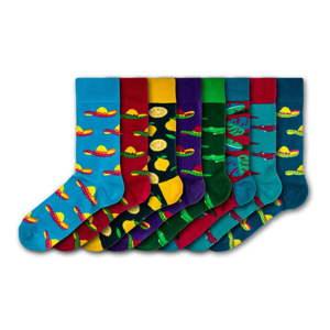 Sada 8 párů pánských ponožek Black&Parker London Sombrero, velikost 41 - 45