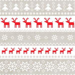 Balení 10 papírových ubrousků s vánočním motivem PPD Magic Christmas Taupe