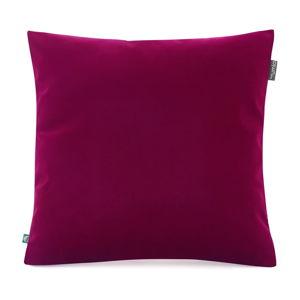 Burgundsky červený povlak na polštář se sametovým povrchem Mumla Velvet, 45 x 45 cm