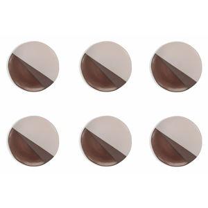 Sada 6 kameninových talířů Villad'Este, ø 27,5cm