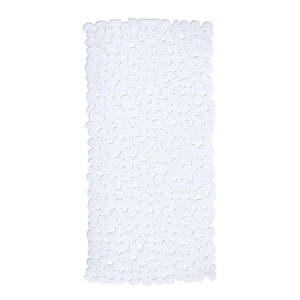 Bílá protiskluzová koupelnová podložka Wenko Drop, 71x36cm