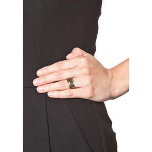Dámský prsten ve zlaté barvě NOMA Eveline