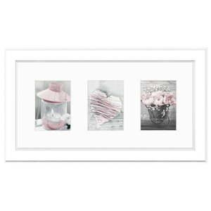 Bílý rám na fotografii Styler Malmo, 46 x 23 cm