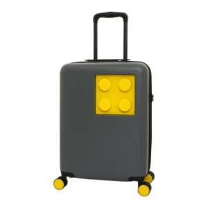 Šedo-žlutý dětský kufr na kolečkách se zámkem LEGO® Urban 20