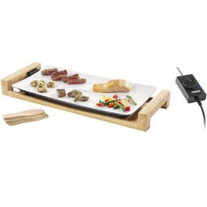 Stolní elektrický keramický gril s bambusovým rámem provedení Princess Table Chef Pure, příkon 2500W