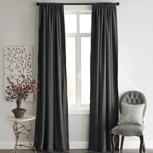 Antracitový závěs Home De Bleu Blackout Curtain, 140x240cm