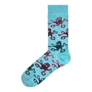 Dámské světle modré ponožky Funky Steps Octopus, velikost 35 - 39