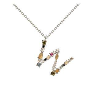 Stříbrný náhrdelník PD PAOLA Monogram W