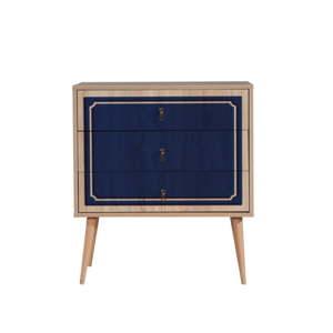 Komoda se 3 zásuvkami Trio Blue Mood, 80 x 90 cm