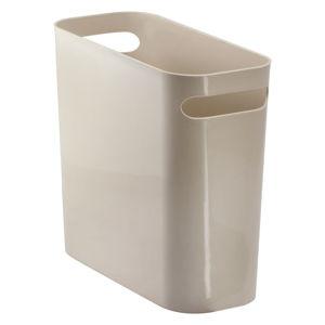 Béžový odpadkový koš iDesign Una, 8,8l