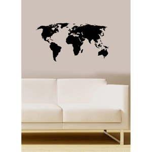 Vinylová samolepka na stěnu Map, 70x36cm