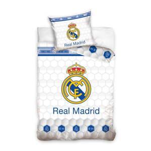 Dětské bavlněné povlečení na jednolůžko CARBOTEX Real Madrid Club III, 160 x 200 cm