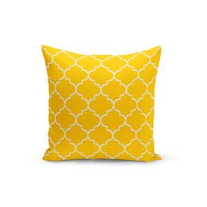 Žlutý polštář s výplní Jane, 43 x 43 cm