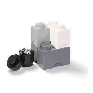 Set 4 plastových úložných krabic LEGO®, 25x25x33cm