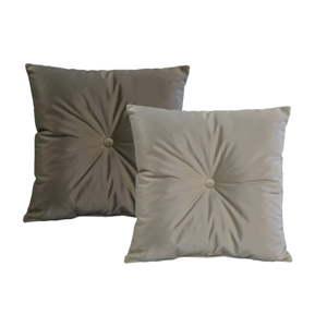 Sada 2 Šedých polštářů JohnsonStyle Magic Velvet, 55 x 55 cm