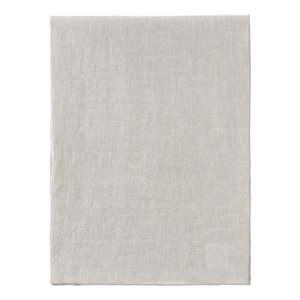 Krémově bílý lněný běhoun na stůl Blomus, 140x45cm