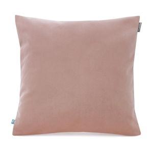 Světle růžový povlak na polštář se sametovým povrchem Mumla Velvet, 45 x 45 cm